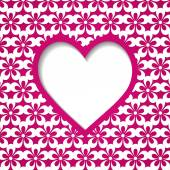 Pink holiday background with a heart — Vetor de Stock