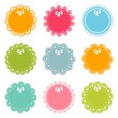 Set of lacy frames — Stock Vector