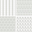White seamless lacy patterns — Stock Vector #65281077