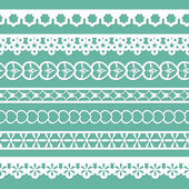 Set of seamless laces — Stock Vector