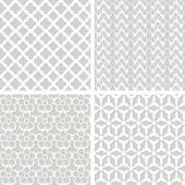 Set of four lacy seamless pattern — Stock Vector
