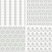 White seamless lacy patterns — Stock Vector