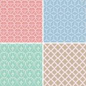 Set van retro naadloze patroon — Stockvector