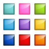 Set of square web buttons — Stock Vector