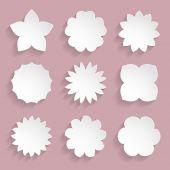Paper floral frames — Vecteur