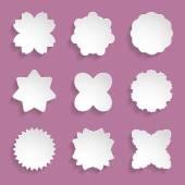Set of floral frames — 图库矢量图片