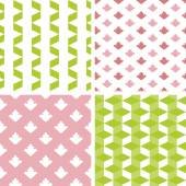 4 seamless patterns — Stockvector