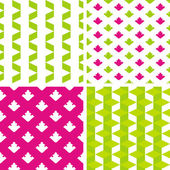 Set of bright seamless patterns — Stock Vector
