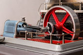 View of the flywheel of a steam engine — Stock Photo