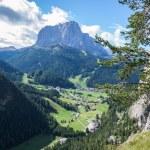 Italian Alps in Val Gardena, Selva in Val Gardena — Stock Photo #54608349