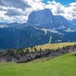 Italian Alps in Val Gardena, Selva in Val Gardena — Stock Photo #55183001