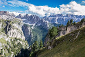 Italian Alps in Val Badia, Natural Park of Puez-Odle — Foto de Stock