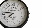 Old clock of Paddington Station in London with roman numbers — Zdjęcie stockowe