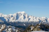 Mount Civetta viewd from Mount Rite during winter — Stock Photo