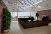 3d Render interior de una sala de estar — Foto de Stock