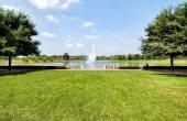 Chicago Botanic Garden with fountain view, USA — Stock Photo