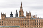 Buildings of British Parliament westminste — 图库照片
