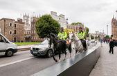 Metropolitan police on horses — Stock Photo