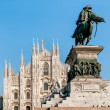 Milan Cathedral facade. Piazza del Duomo — Stock Photo #62959003