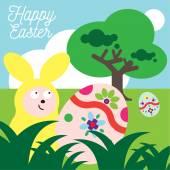 兔子复活节 — 图库矢量图片