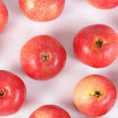 Red fresh apples as a background — Stock Photo