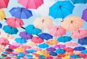 Colorful umbrellas — Stock Photo