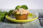 Savory banana basil muffin — Stock Photo
