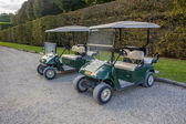 Golf cars parking. — Photo