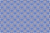 Blue mosaic azulejo texture in Lisbon. — Stock Photo