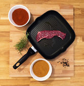 Meat grill — Stock Photo