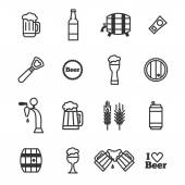Set of beer icons — Stock Vector