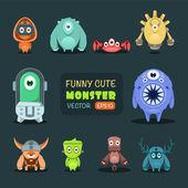Vector collectie van leuke monsters — Stockvector