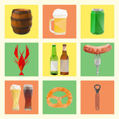 Polygonal beer set — Stock Photo