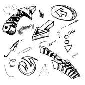 Arrows vector sketch — Stock Photo