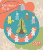 Christmas party, baby costumes, infographics — Stock Vector