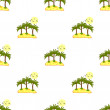 Seamless pattern, sea island with palm trees and blue contours. — Stock Vector #63683453