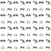 Seamless vector pattern. Sports competition and fitness. — Stockvektor