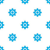 Seamless pattern with blue gears — Stock Vector