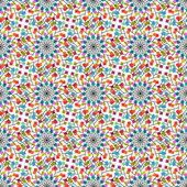 Seamless pattern of colored squares — Stock Vector