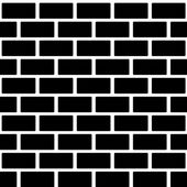 Black brick wall seamless pattern. Simple building stonewall background.  — Vector de stock