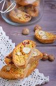Pumpkin biscotti with hazelnuts — Stock Photo