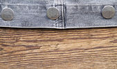Fastener of a jeans jacket — Stock Photo