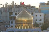 Dome of Sayeda Zeinab shrine in Syria — Foto Stock