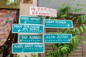 Direction signage at the street art in Georgetown, Penang — Stock Photo