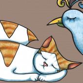 Sleeeping pets — Vector de stock