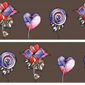 Watercolor flowers — Vector de stock