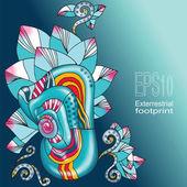 Fantastic floral card — Stock Vector