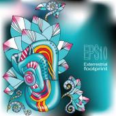 Fantastic floral card — Vecteur