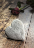 Heart on a wooden background. — Stock Photo