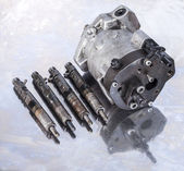 Fuel Injection Pump with injectors. — Stock Photo
